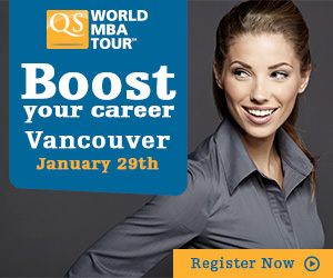 Register for the QS World MBA Tour - Vancouver