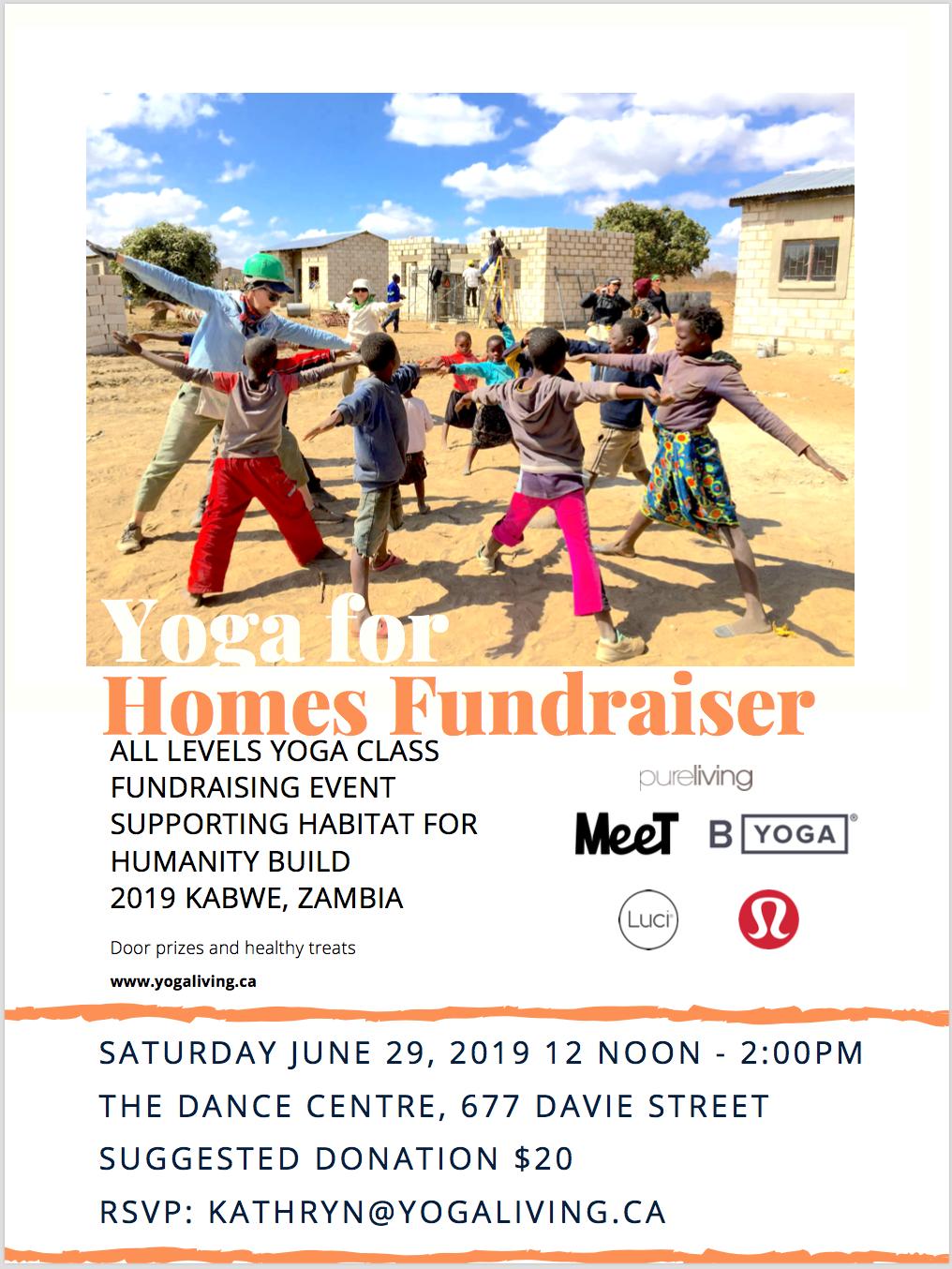 Yoga fundraiser